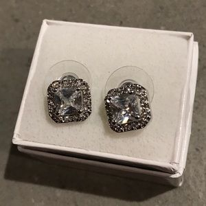 Jewelry - Square Cubic Zirconia Stud Earrings